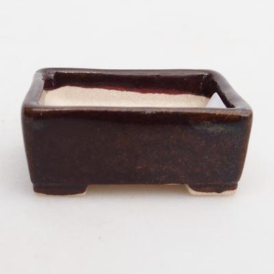 Mini bonsai bowl 4 x 3,5 x 1,5 cm, color brown - 1