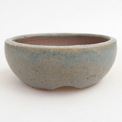 Ceramic bonsai bowl 9.5 x 9.5 x 3.5 cm, color blue - 1
