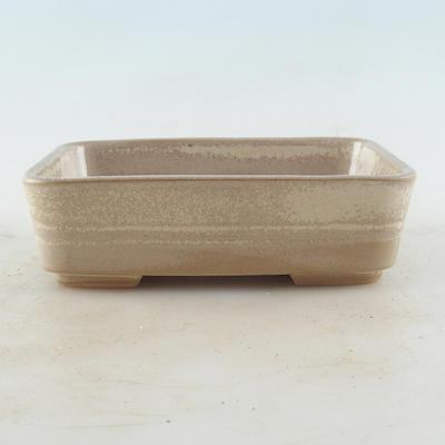 Ceramic bonsai bowl 14.5 x 10 x 4 cm, beige color - 1