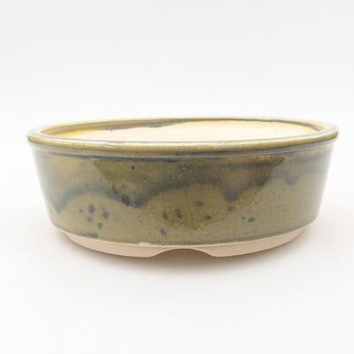 Ceramic bonsai bowl 16 x 16 x 5 cm, color green - 1