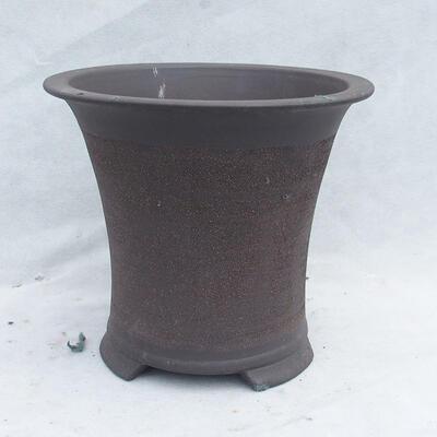 Bonsai bowl 25 x 25 x 22 cm, gray color - 1