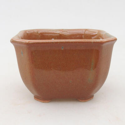 Ceramic bonsai bowl 10 x 10 x 6.5 cm, color gray-rusty - 1
