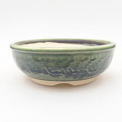 Ceramic bonsai bowl 14 x 14 x 5 cm, color green - 1