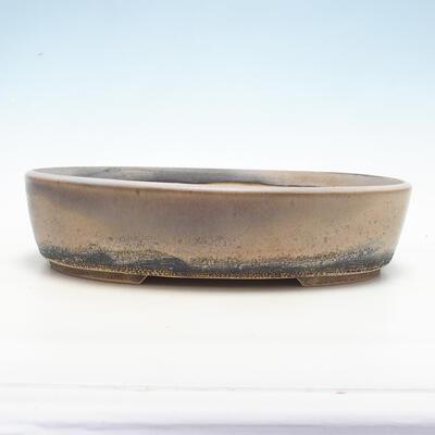 Bonsai bowl 36 x 27 x 8 cm, beige color - 1
