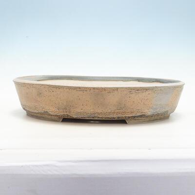Bonsai bowl 45 x 36.5 x 9 cm, gray-beige color - 1
