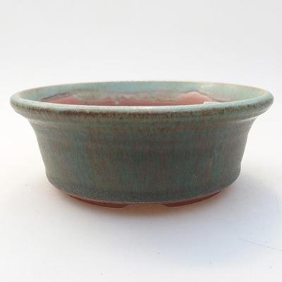 Ceramic bonsai bowl 11 x 11 x 4 cm, color green - 1