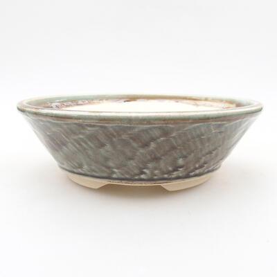 Ceramic bonsai bowl 16 x 16 x 4.5 cm, color green - 1