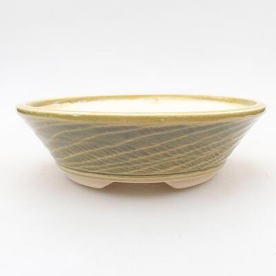 Ceramic bonsai bowl 15.5 x 15.5 x 4.5 cm, color green - 1