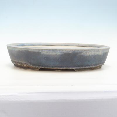 Bonsai bowl 44 x 35.5 x 9 cm, gray-blue color - 1