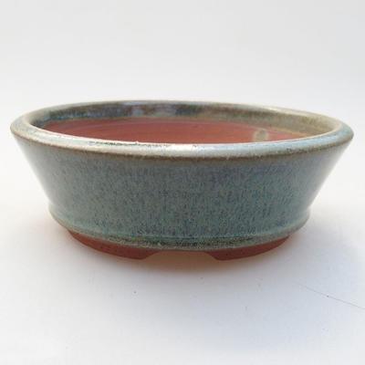 Ceramic bonsai bowl 10.5 x 10.5 x 3.5 cm, color green - 1