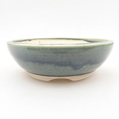 Ceramic bonsai bowl 12.5 x 12.5 x 4 cm, color green - 1