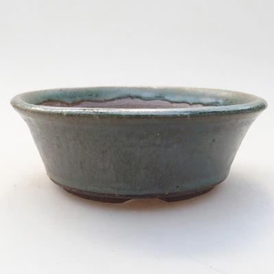 Ceramic bonsai bowl 11.5 x 11.5 x 4 cm, color green - 1