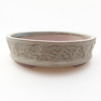 Ceramic bonsai bowl 10 x 10 x 3 cm, gray color - 1