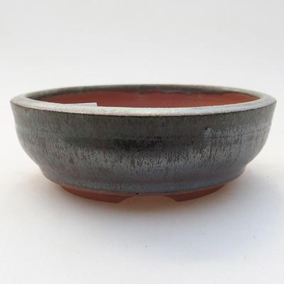 Ceramic bonsai bowl 10 x 10 x 3.5 cm, color green - 1