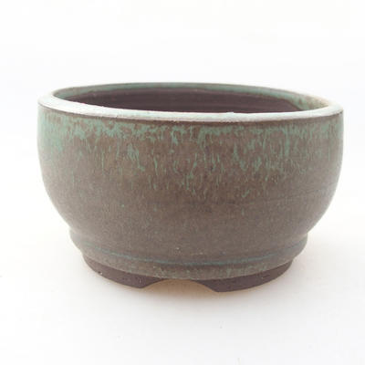 Ceramic bonsai bowl 8 x 8 x 4.5 cm, color green - 1