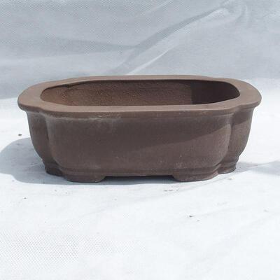 Bonsai bowl 25 x 20 x 7.5 cm, gray color - 1