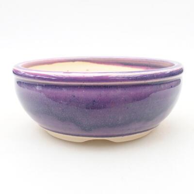 Ceramic bonsai bowl 13 x 13 x 5 cm, color purple - 1
