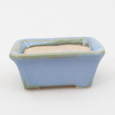 Mini bonsai bowl 6 x 4,5 x 2,5 cm, color blue - 1