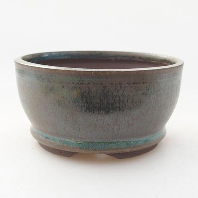 Ceramic bonsai bowl 8.5 x 8.5 x 4.5 cm, color green - 1