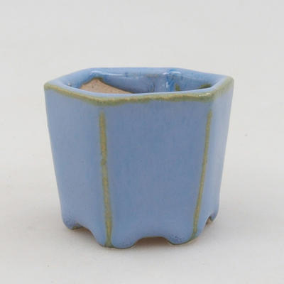 Mini bonsai bowl 4 x 4 x 3,5 cm, color blue - 1