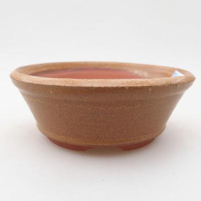 Ceramic bonsai bowl 10.5 x 10.5 x 4 cm, brown color - 1