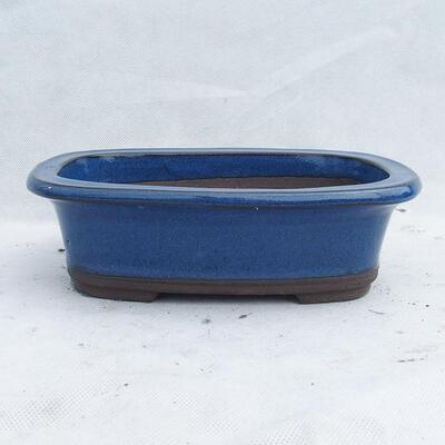 Bonsai bowl 23 x 16 x 7 cm, color blue - 1