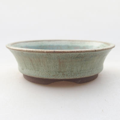 Ceramic bonsai bowl 9 x 9 x 3.5 cm, color green - 1