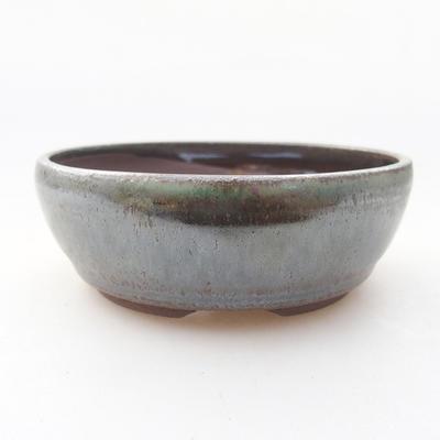 Ceramic bonsai bowl 9 x 9 x 3 cm, color green - 1