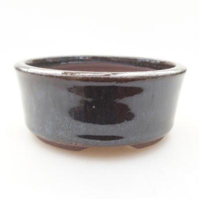 Ceramic bonsai bowl 8 x 8 x 3 cm, color green - 1