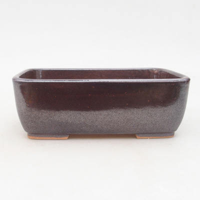 Ceramic bonsai bowl 16 x 10 x 5.5 cm, brown color - 1