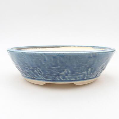 Ceramic bonsai bowl 19.5 x 19.5 x 6 cm, color blue - 1