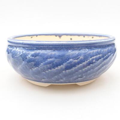 Ceramic bonsai bowl 13.5 x 13.5 x 5.5 cm, color blue - 1