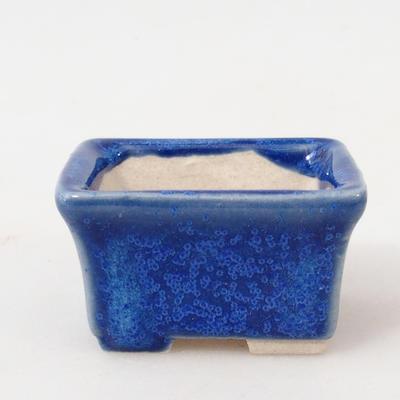 Mini bonsai bowl 4 x 3 x 2.5 cm, color blue - 1