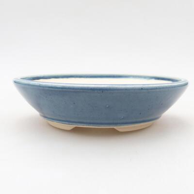 Ceramic bonsai bowl 15 x 15 x 4 cm, color blue - 1