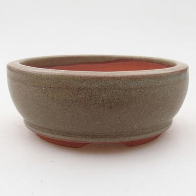Ceramic bonsai bowl 9 x 9 x 3.5 cm, gray color - 1