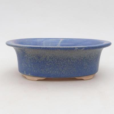Ceramic bonsai bowl 19 x 16 x 6.5 cm, color blue - 1