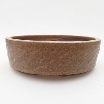 Ceramic bonsai bowl 17 x 17 x 5 cm, color brown - 1