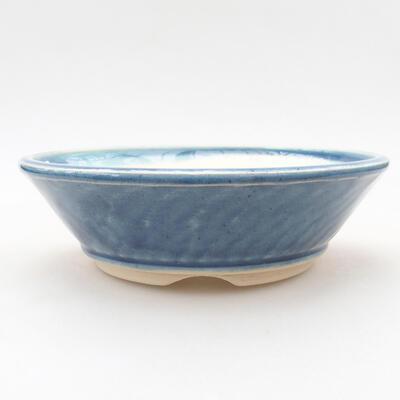 Ceramic bonsai bowl 15 x 15 x 4.5 cm, color blue - 1