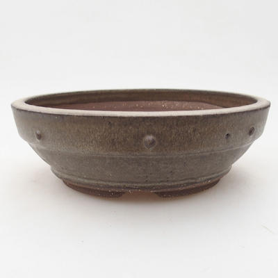 Ceramic bonsai bowl 17.5 x 17.5 x 5.5 cm, gray color - 1