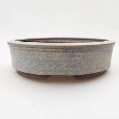Ceramic bonsai bowl 16.5 x 16.5 x 4.5 cm, color blue - 1