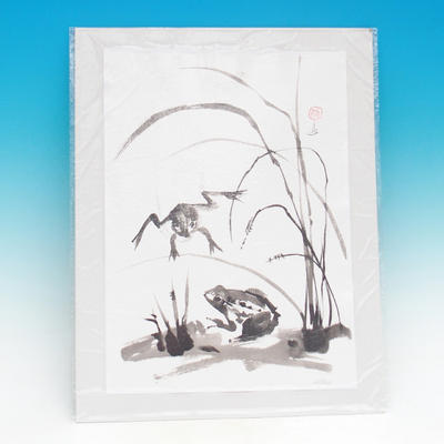 Calligraphy - Frogs in the Grass