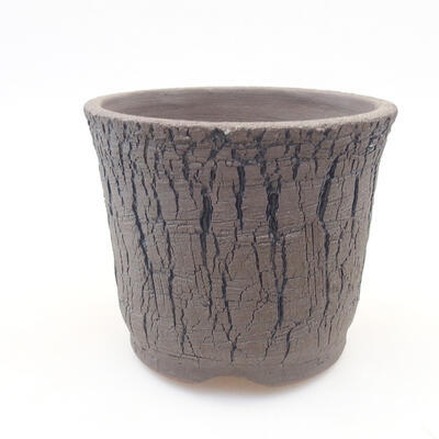 Ceramic bonsai bowl 12 x 12 x 10 cm, color black - 1