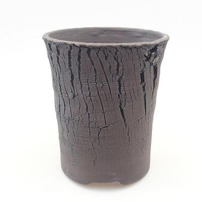 Ceramic bonsai bowl 13 x 13 x 15.5 cm, color black - 1