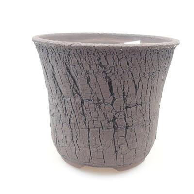 Ceramic bonsai bowl 15.5 x 15.5 x 13 cm, color black - 1