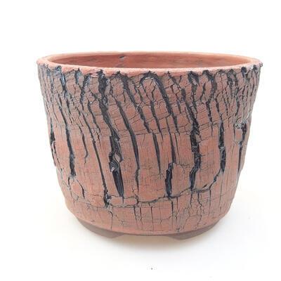Ceramic bonsai bowl 15 x 15 x 11 cm, color black - 1