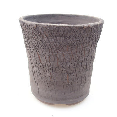 Ceramic bonsai bowl 13 x 13 x 13 cm, gray color - 1
