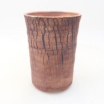 Ceramic bonsai bowl 14 x 14 x 18.5 cm, gray color - 1
