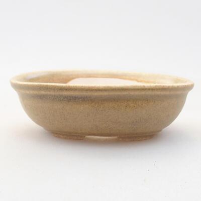 Mini bonsai bowl 8 x 6 x 2.5 cm, beige color - 1
