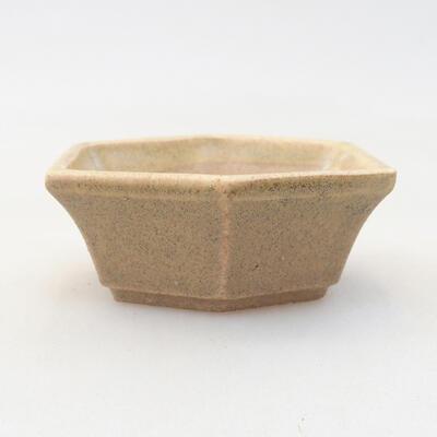Mini bonsai bowl 6 x 5 x 2 cm, beige color - 1