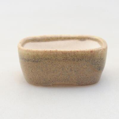 Mini bonsai bowl 4 x 3 x 1.5 cm, color beige - 1